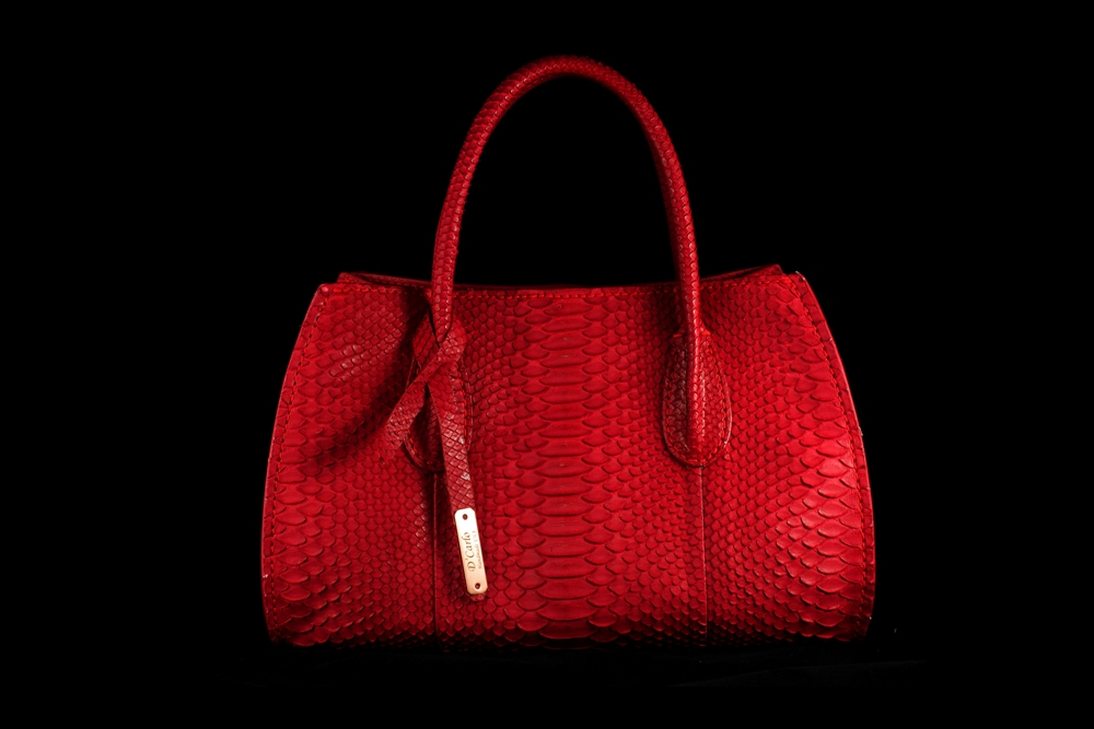 Red python purse